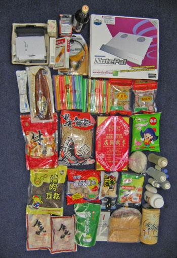 從台灣坐飛機過去的零食