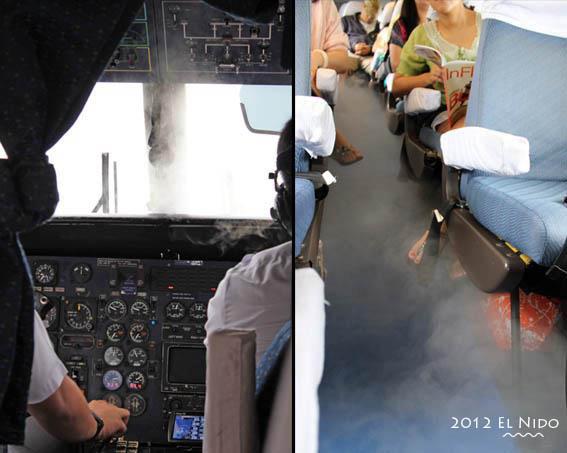 小飛機上的乾冰