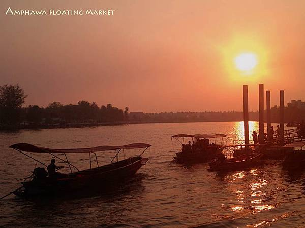 Amphawa Floating Market Sunset