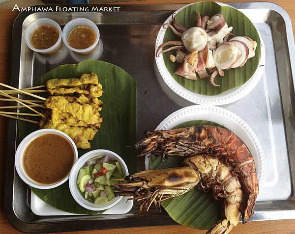 Amphawa Floating Market food