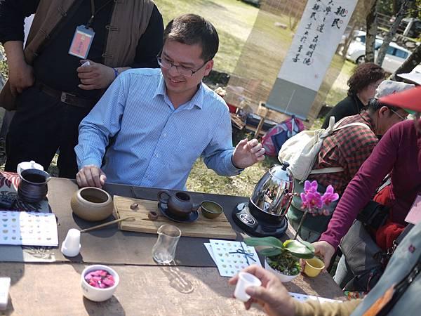 20120212櫻花茶會-洺盛-鮮玫瑰泡茶-2