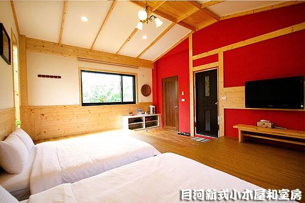 南投溪頭民宿-小木屋-內部房間照-和室