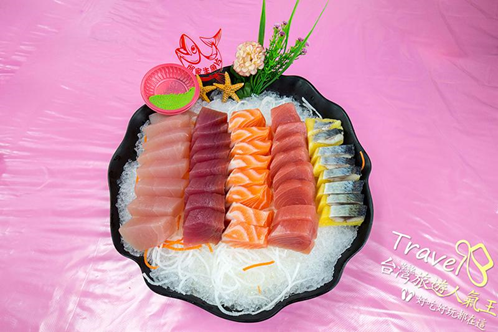 後壁湖生魚片百元拼盤,5種口味大滿足
