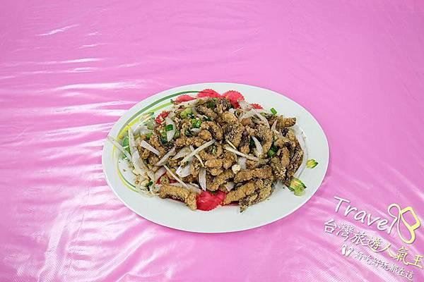 後壁湖生魚片-推薦香酥旗魚皮 料理