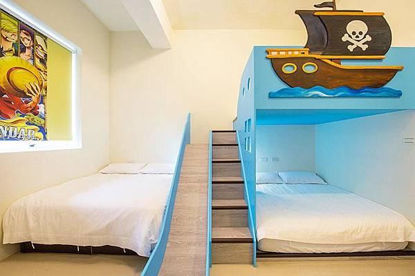 海賊王的風格,有小小溜滑梯,可以跟小海賊一起冒險囉!!