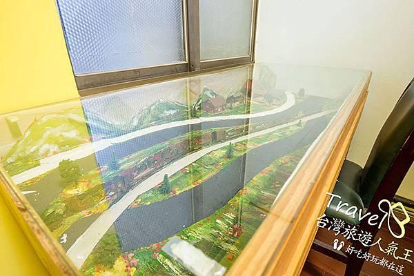 桃園民宿-三坑老爹-背包房-市景模型