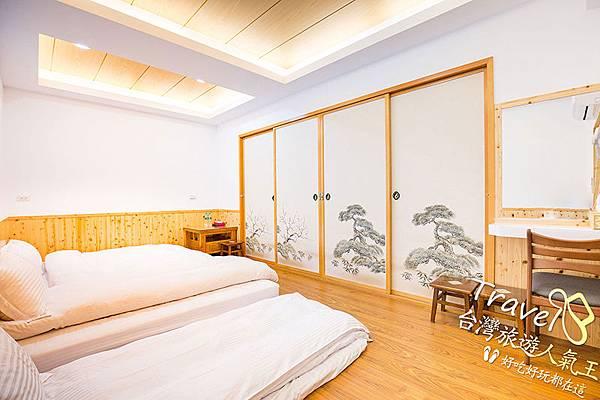 日式風格-房間實際-拉門-床