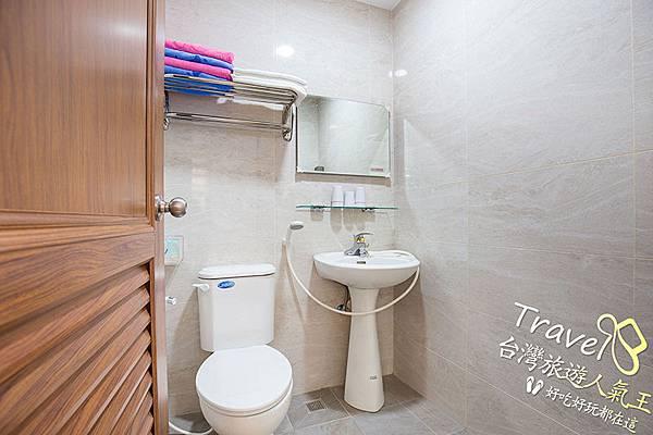 南投日式風格民宿-衛浴空間-廁所