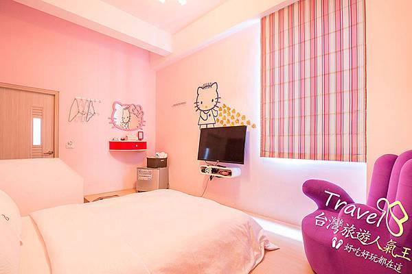 愛上綠島民宿_1樓卡通貓2人房的室內場景