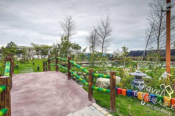 民宿-花園庭院-小橋-流水
