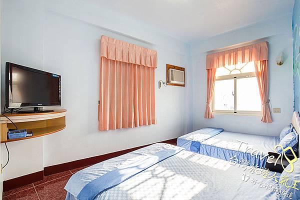 綠島民宿,溫馨四人房(2),雙人床
