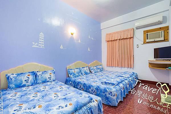 綠島民宿,親子六人房,藍色風格,綠島體驗