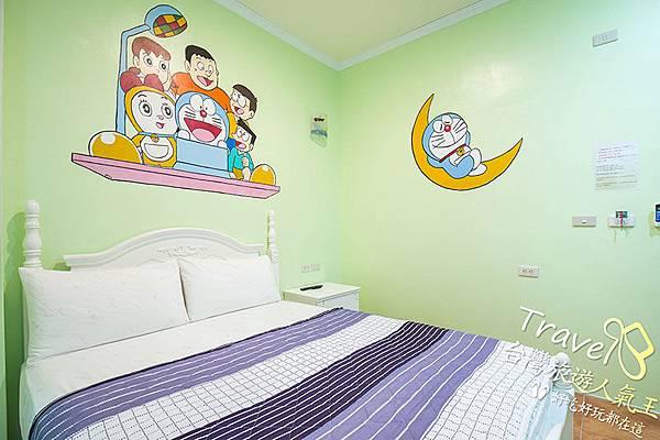 雙人床,明月小築民宿二館,A7雙人房
