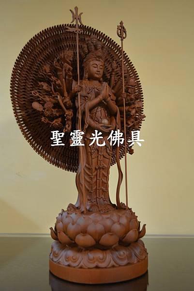 千手千眼觀世音菩薩 站體  一尺六 台灣梢楠木3