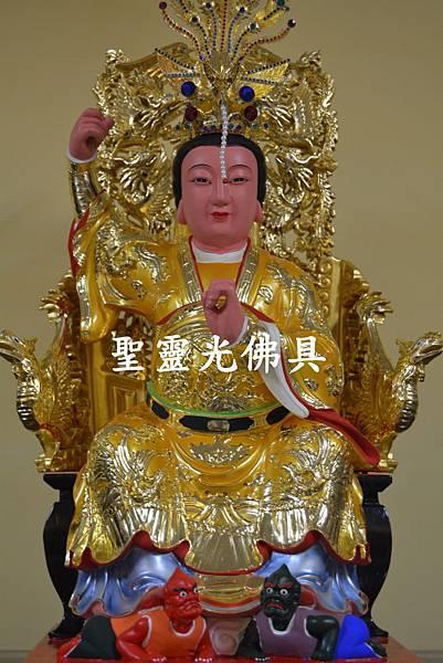 訂製神像 順天聖母 陳靖姑 一尺六 身坐七鳳椅 梢楠木 按金 5