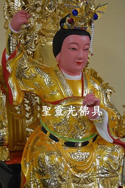 訂製神像 順天聖母 陳靖姑 一尺六 身坐七鳳椅 梢楠木 按金 3