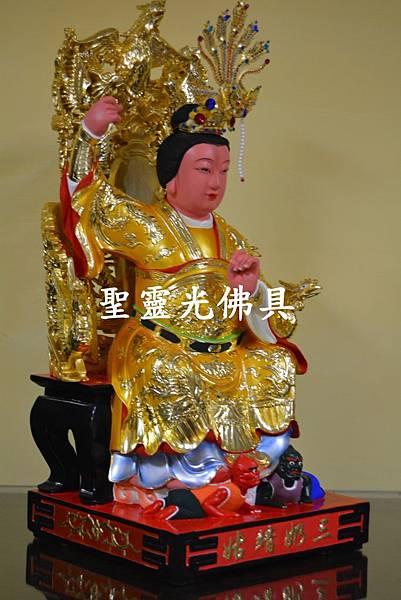 訂製神像 順天聖母 陳靖姑 一尺六 身坐七鳳椅 梢楠木 按金 4