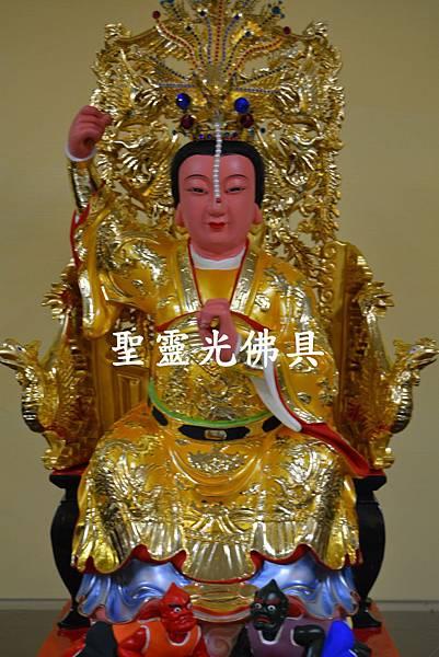 訂製神像 順天聖母 陳靖姑 一尺六 身坐七鳳椅 梢楠木 按金 2