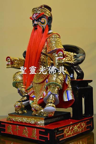 訂製神像 莫府千歲 一尺六 樟木 按金 活眼 植髮3
