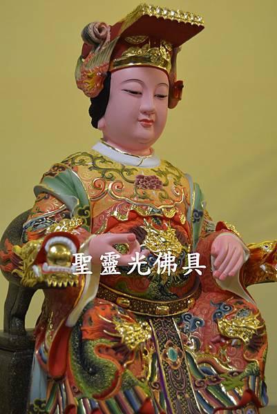 訂製神像 天上聖母 媽祖 一尺三 樟木 極彩彩繪1