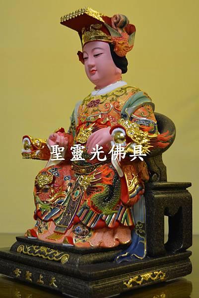 訂製神像 天上聖母 媽祖 一尺三 樟木 極彩彩繪3