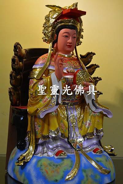 訂製神像 二尺二 地母娘娘 樟木 按金 珍珠漆彩繪2