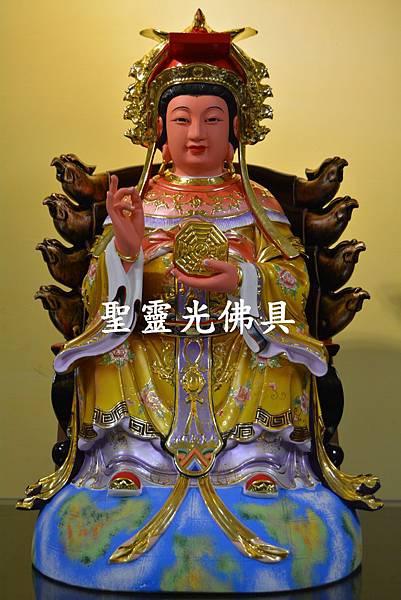 訂製神像 二尺二 地母娘娘 樟木 按金 珍珠漆彩繪