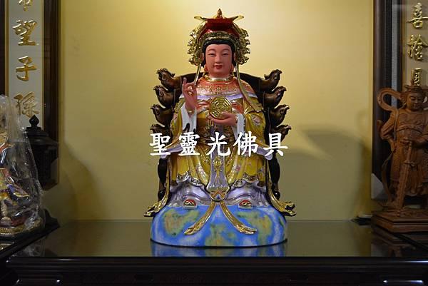 訂製神像 二尺二 地母娘娘 樟木 按金 珍珠漆彩繪4