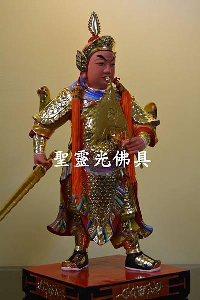 訂製神像 護法將軍 一尺六 樟木 按金 珍珠漆彩繪5