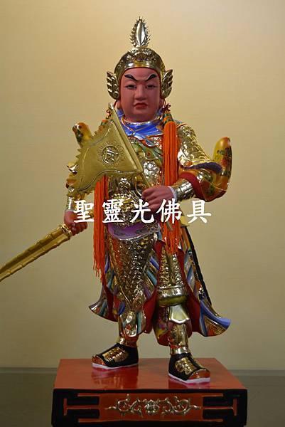 訂製神像 護法將軍 一尺六 樟木 按金 珍珠漆彩繪4