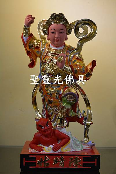 訂製神像 順天聖母 陳靖姑 二尺二 樟木 珍珠漆彩繪 按金