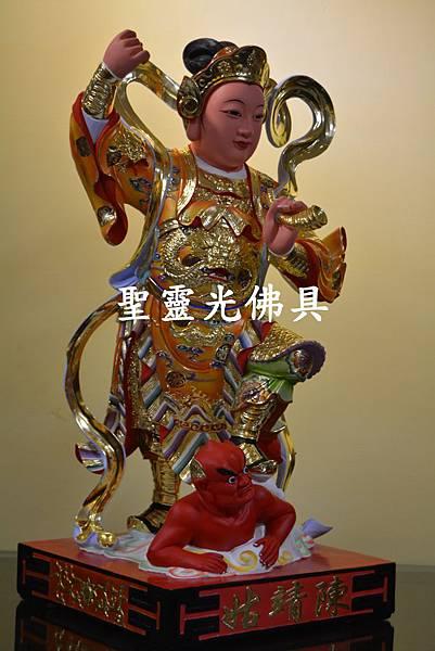 訂製神像 順天聖母 陳靖姑 二尺二 樟木 珍珠漆彩繪 按金1