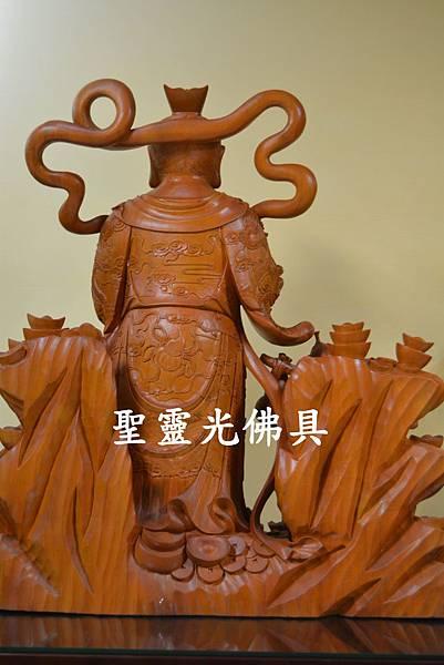 天官五路武財神 玄壇元帥 趙公明 古體特製版 樟木 二尺二4
