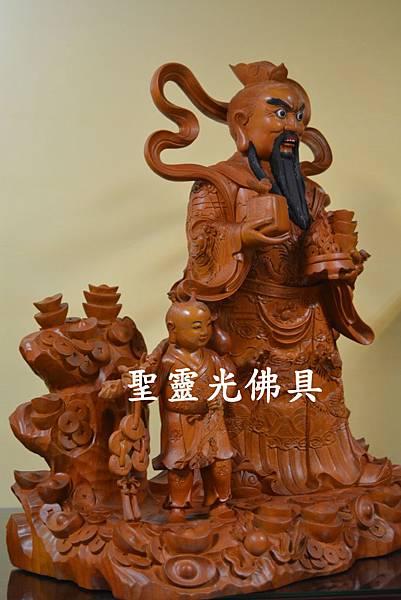 天官五路武財神 玄壇元帥 趙公明 古體特製版 樟木 二尺二3