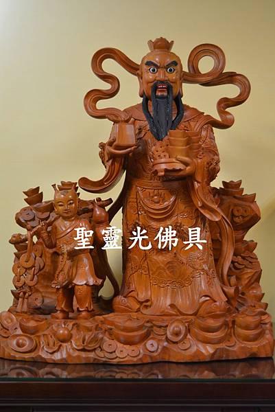 天官五路武財神 玄壇元帥 趙公明 古體特製版 樟木 二尺二