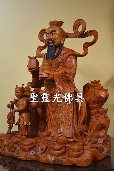 天官五路武財神 玄壇元帥 趙公明 古體特製版 樟木 二尺二2