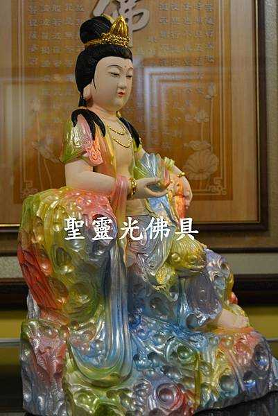 訂製神像 女媧娘娘 一尺三 牛樟木 珍珠漆彩繪3