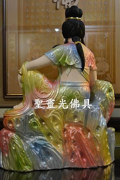 訂製神像 女媧娘娘 一尺三 牛樟木 珍珠漆彩繪5