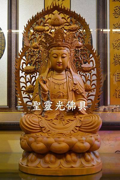 訂製神像 南海觀世音菩薩 二尺二 樟木 原木本色