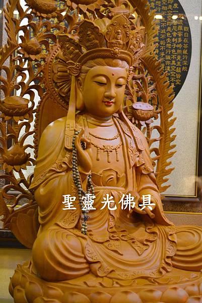 訂製神像 南海觀世音菩薩 二尺二 樟木 原木本色2