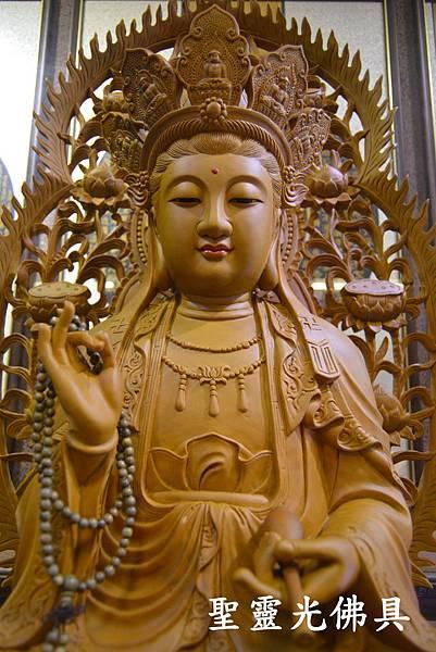 訂製神像 南海觀世音菩薩 二尺二 樟木 原木本色4