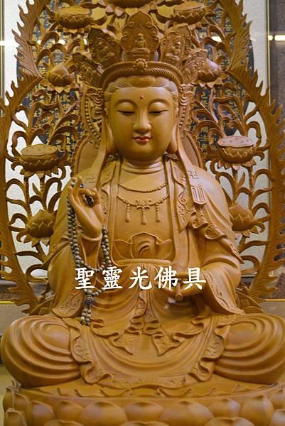 訂製神像 南海觀世音菩薩 二尺二 樟木 原木本色3