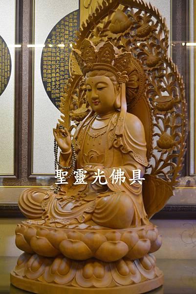 訂製神像 南海觀世音菩薩 二尺二 樟木 原木本色5