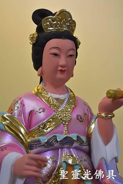 訂製神像 仙女 一尺三 樟木 珍珠漆 彩繪 按金