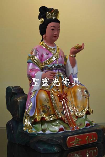 訂製神像 仙女 一尺三 樟木 珍珠漆 彩繪 按金2