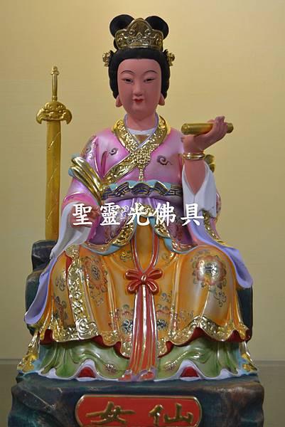 訂製神像 仙女 一尺三 樟木 珍珠漆 彩繪 按金1