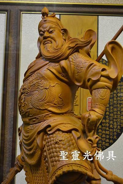 訂製神像 關聖帝君 關公 樟木 二尺九 原木本色4