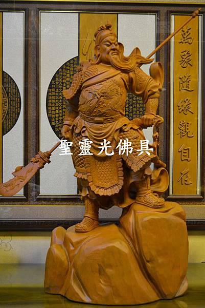 訂製神像 關聖帝君 關公 樟木 二尺九 原木本色5