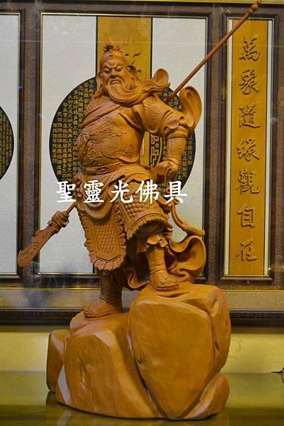 訂製神像 關聖帝君 關公 樟木 二尺九 原木本色1