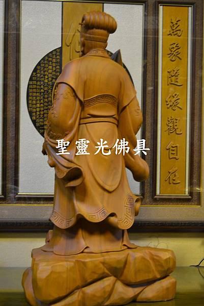 訂製神像 諸葛亮 孔明 樟木 二尺九 原木本色5